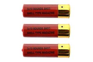 3x De Tripleshot Airsoft Shotgun Extra Shell Magazine
